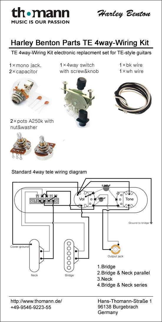 366066_wiring_schematic_te_4way harley benton parts te wiring kit 4 way thomann uk light kit wiring diagram at readyjetset.co