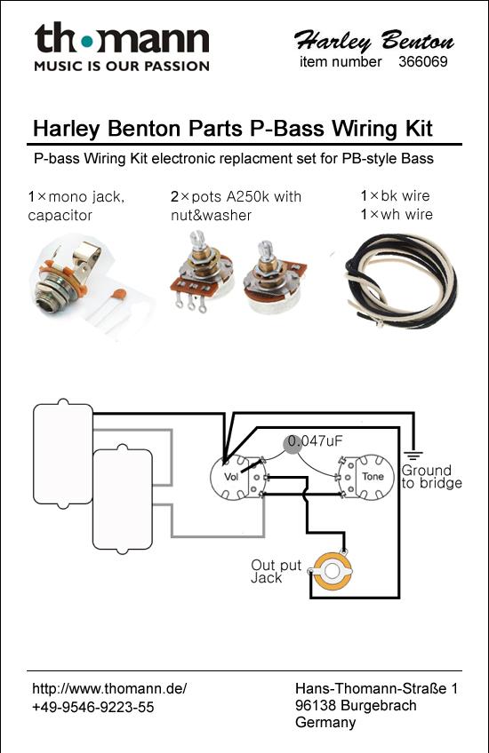 Harley Benton Parts PB-Wiring Kit – Thomann UK