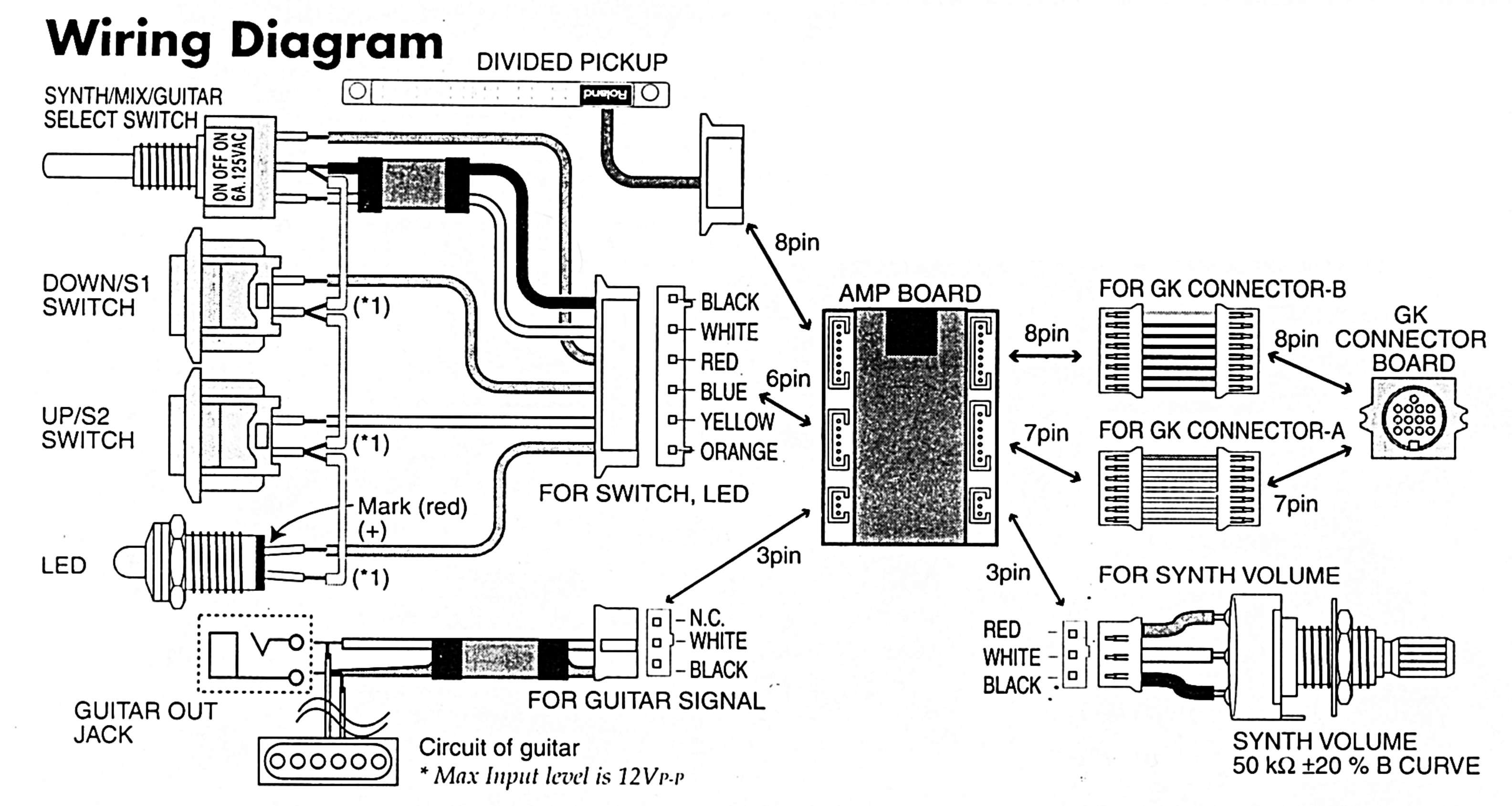 roland gk kit gt th n uk wiring diagram
