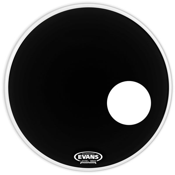 "Evans 24"" EQ3 Resonant Bass Drum BK"