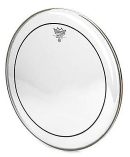 "Remo 20"" Pinstripe Clear Bass Drum"