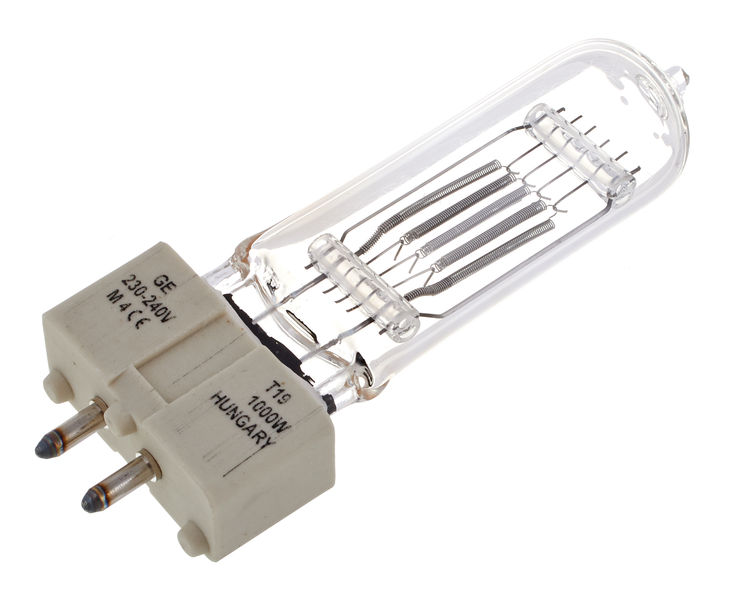 GE Lighting T19 1000 W, GX9,5