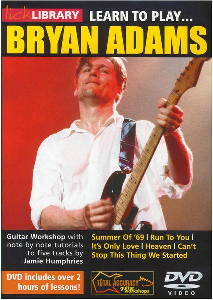 Music Sales Bryan Adams Learn To Play DVD