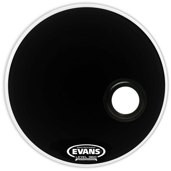 "Evans 24"" E-Mad Reso Bass Drum BK"