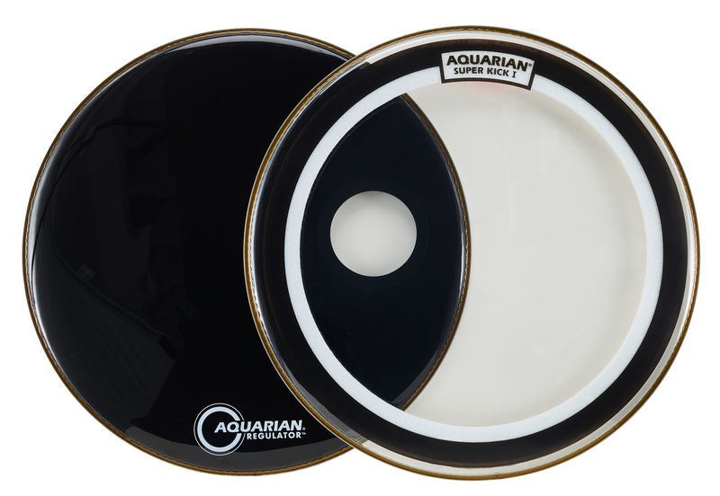 "22"" Super Kick Clear Bass Set Aquarian"