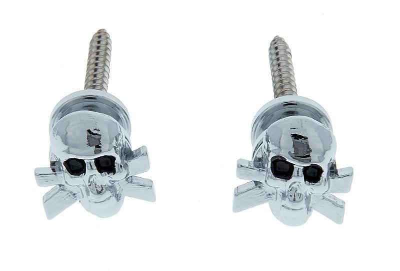 Grover Artist Strap Buttons Skull CHR