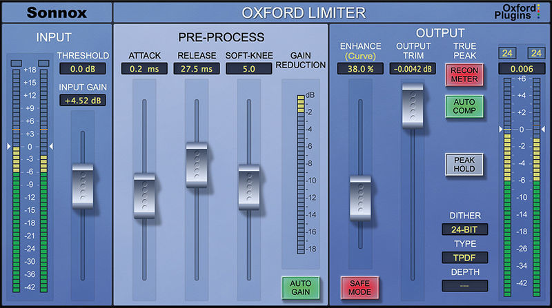 Sonnox Oxford Limiter Native v2