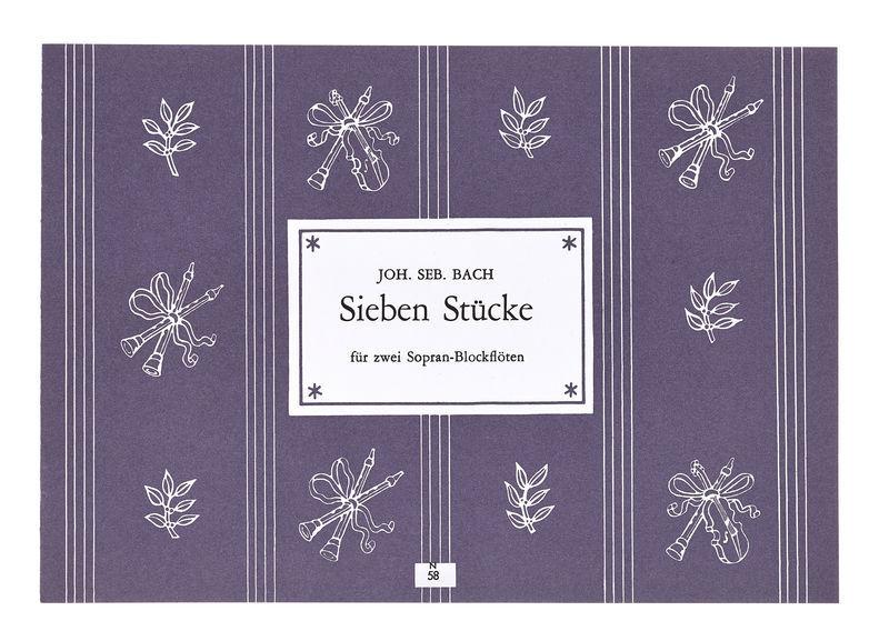 E Heinrichshofen Bach 7 Stücke 2 Blockflöten