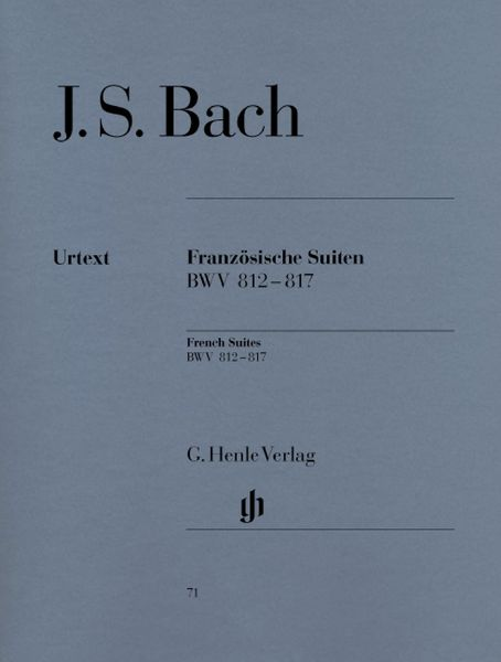 Henle Verlag Bach French Suites BWV 812-817