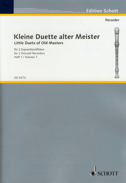Schott Little Duets of Old Masters 1