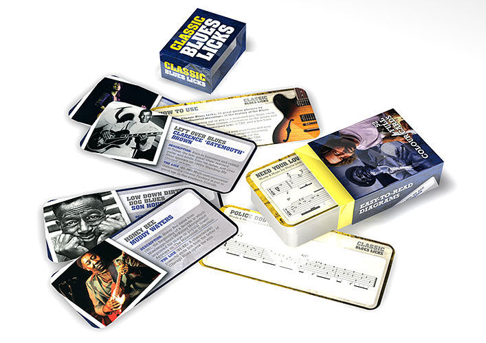 Music Sales Flashcards Blues Licks English