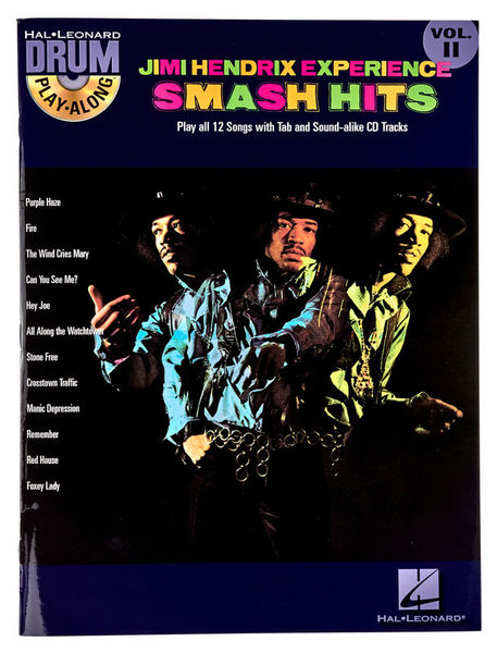 Music Sales Jimi Hendrix Smash Hits Drum
