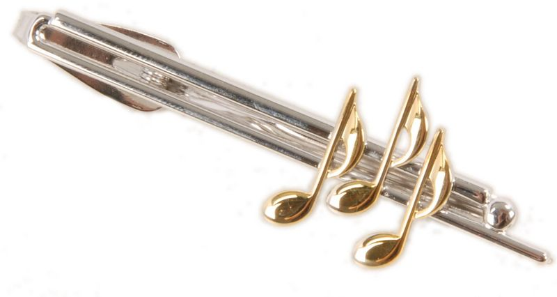 Art of Music Tie Pin Gold/Silver