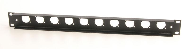 Thon Rack Panel 1U 10 XLR 90°