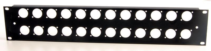 Thon Rack Panel 2U 24XLR 90°