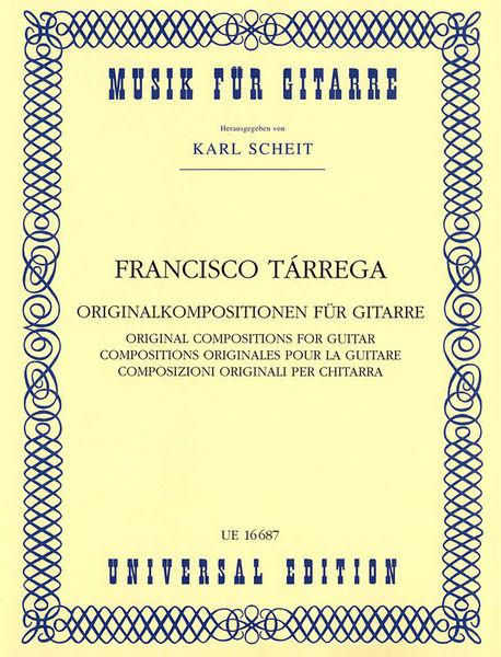 Universal Edition Tarrega Originalkompositionen