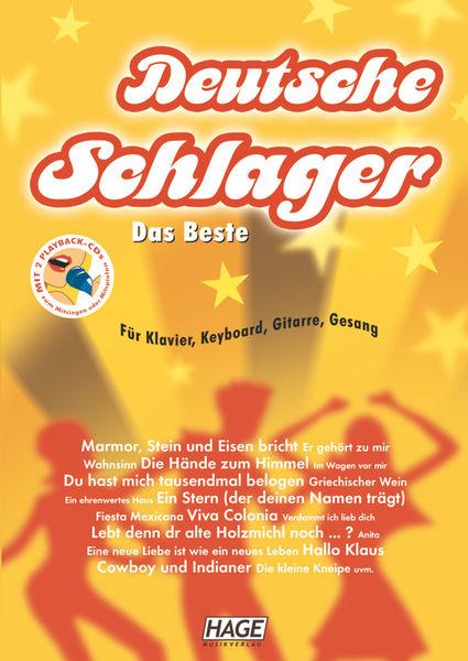 Hage Musikverlag Deutsche Schlager m.CD.