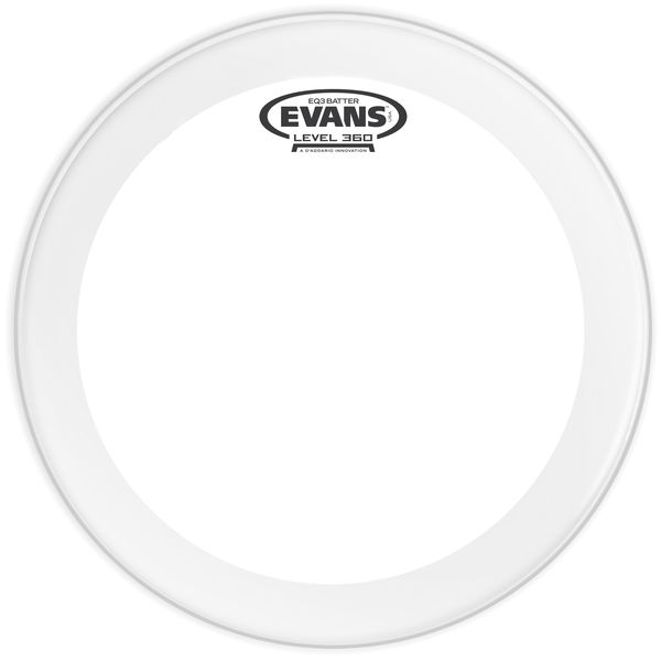 "Evans 20"" EQ3 Clear Bass Drum Head"