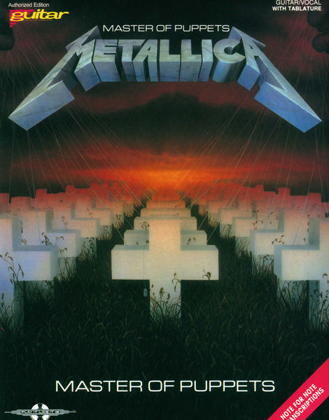 Metallica Master Of Puppets Cherry Lane Music Company