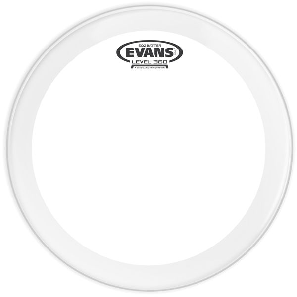 "Evans EQ2 Clear 22"" Bass Drum Head"
