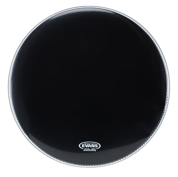 "Evans 22"" Resonant Head Black"