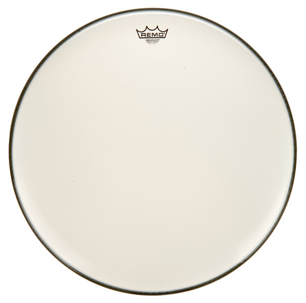"Remo 22"" Ambassador White Smooth"