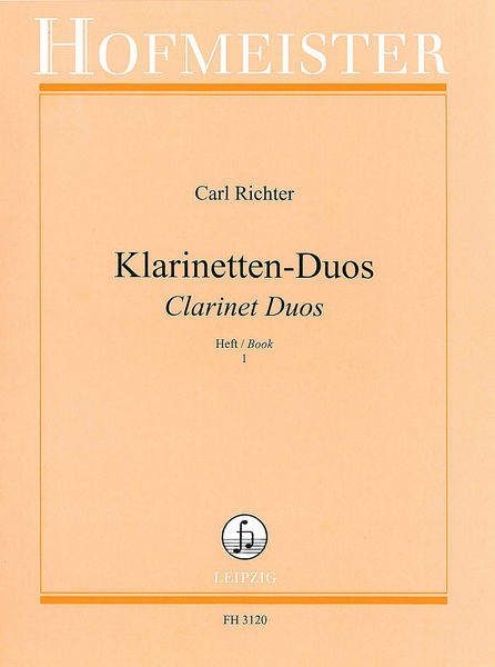 hofmeister verlag richter clarinet duos 1 musikhaus thomann. Black Bedroom Furniture Sets. Home Design Ideas