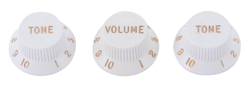 Fender Volume & Tone Knobs Set White
