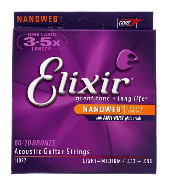 Elixir Nanoweb Light-Medium Acoustic