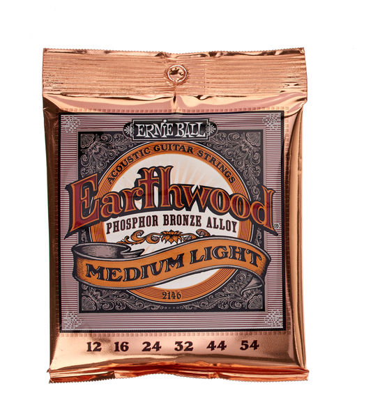 5 Pack Ernie Ball 2148 Earthwood Light Phosphor Bronze Strings Ships FREE U.S
