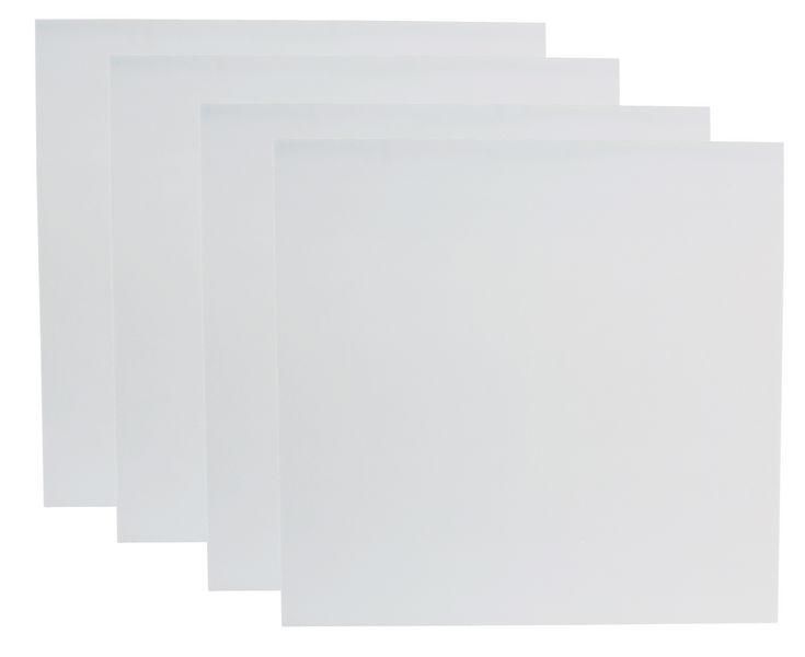 the t.akustik Melamine 50 100/100 White 4pcs