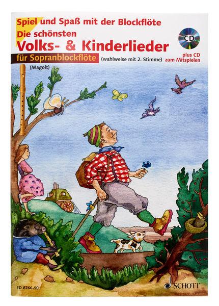 Schott Volks- und Kinderlieder Rec+CD
