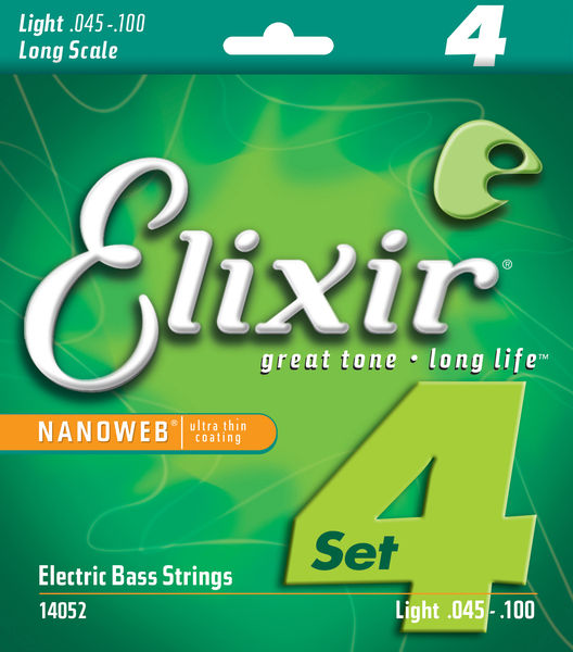 Elixir Nanoweb Light Bass Guitar