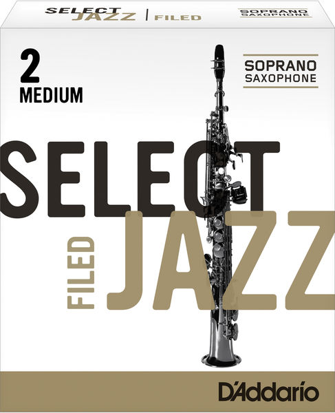 D'Addario Woodwinds 2M Select Jazz Filed Soprano