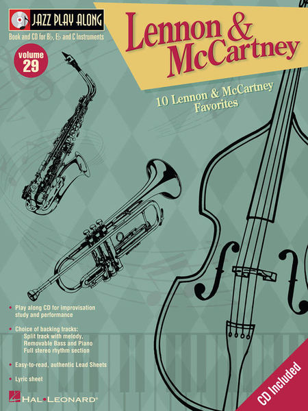 Jazz Play-Along Lennon Cartney Hal Leonard