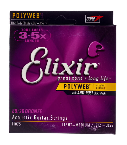 Elixir Polyweb Light-Medium Acoustic