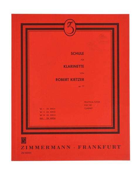 Zimmermann Verlag Kietzer Schule Für Klarinette
