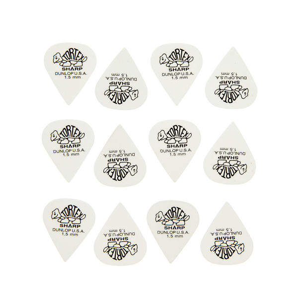 Dunlop Plectrums Tortex Sharp 1,50 12