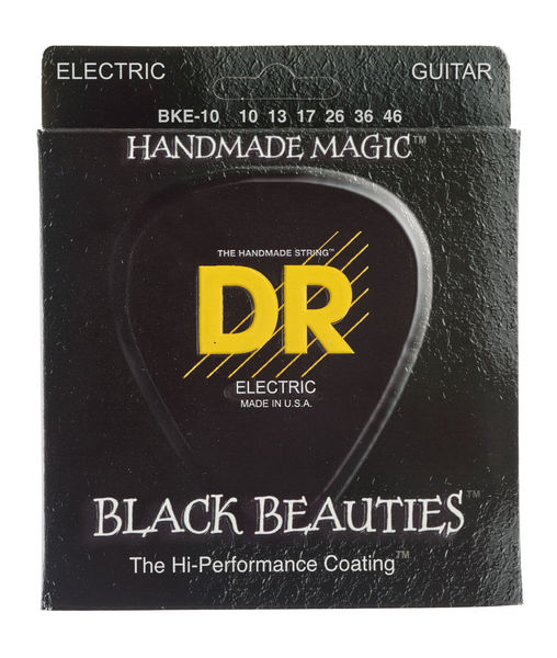 DR Strings Black Beauties BKE- 10