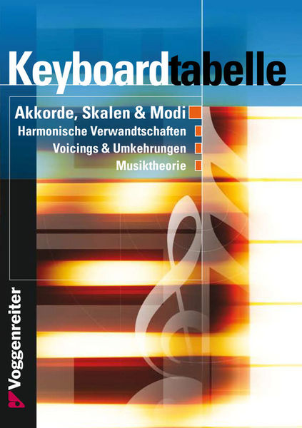 Voggenreiter Keyboardtabelle