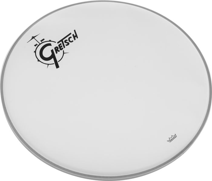 "Gretsch 22"" Bass Drum Head WH w/Logo"