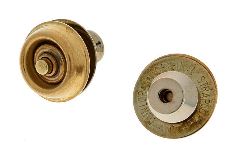 Dunlop Straplok Brass Dual Design