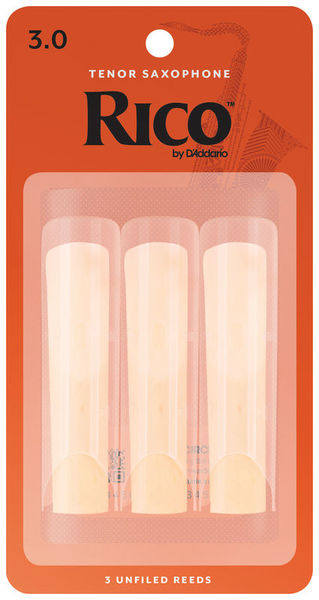 DAddario Woodwinds Rico Tenor Sax 3.0 - 3-Pack