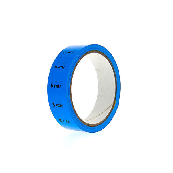 """Showtec Markertape PVC """" 5 mtr."""" blue"""