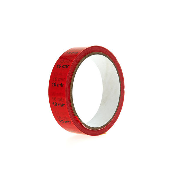 "Showtec Markertape PVC "" 10 mtr."" red"