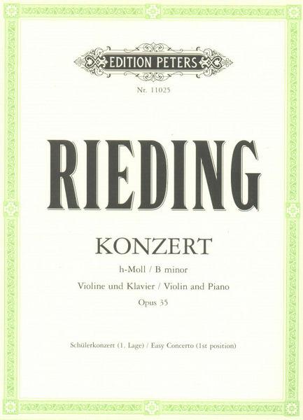 Edition Peters Rieding Konzert h-Moll op. 35