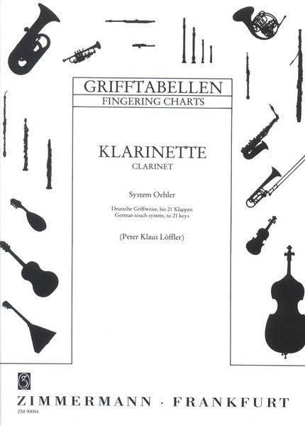 Zimmermann Verlag Grifftabelle Klarinette Oehler
