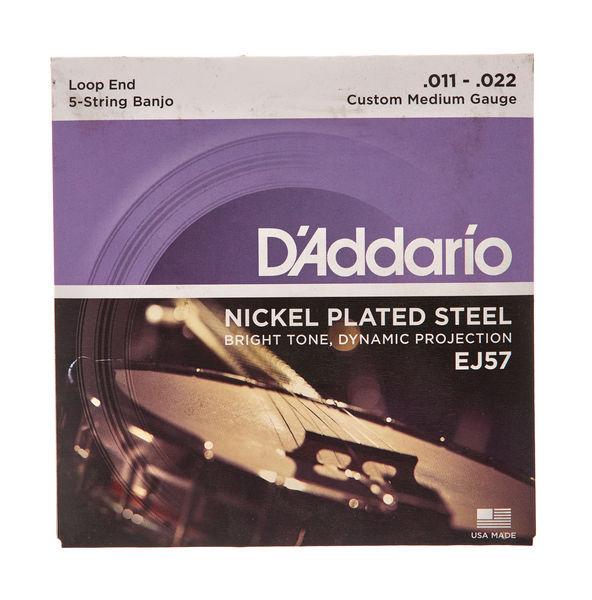 10 Sets D/'Addario EJ60 5 String Banjo Nickel Wound Light Gauge Strings USA Made