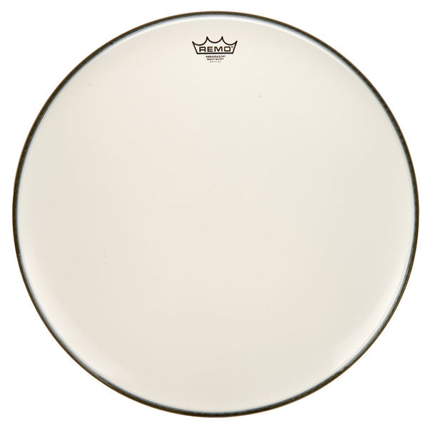 "Remo 24"" Ambassador White Smooth"