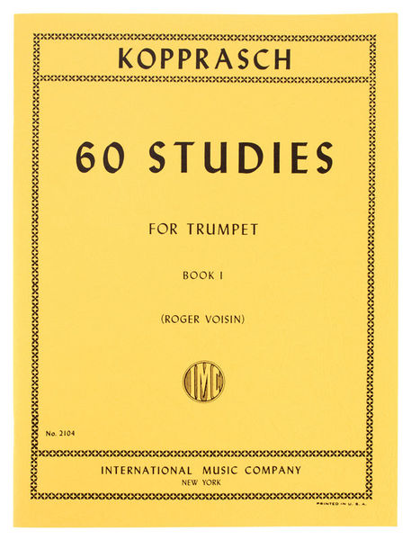International Music Company Kopprasch 60 Studies f.Trp